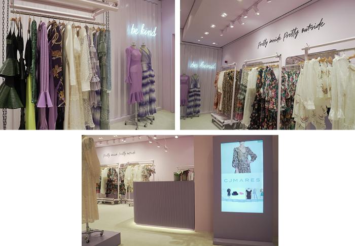 Uma boutique temporária 1st View Store da CJMARES instalada no Shopping Cidade Jardim, em São Paulo, apresenta o conceito da joint venture entre a empresária mineira Erika Mares Guia e o próprio shopping.